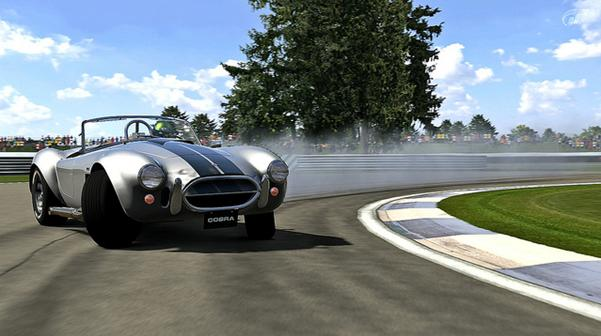 When it's not tearing up villages in Age of Empires 2, the purring 1966 Shelby Cobra 427 proves a sexy machine on the track, if a little hot to handle.